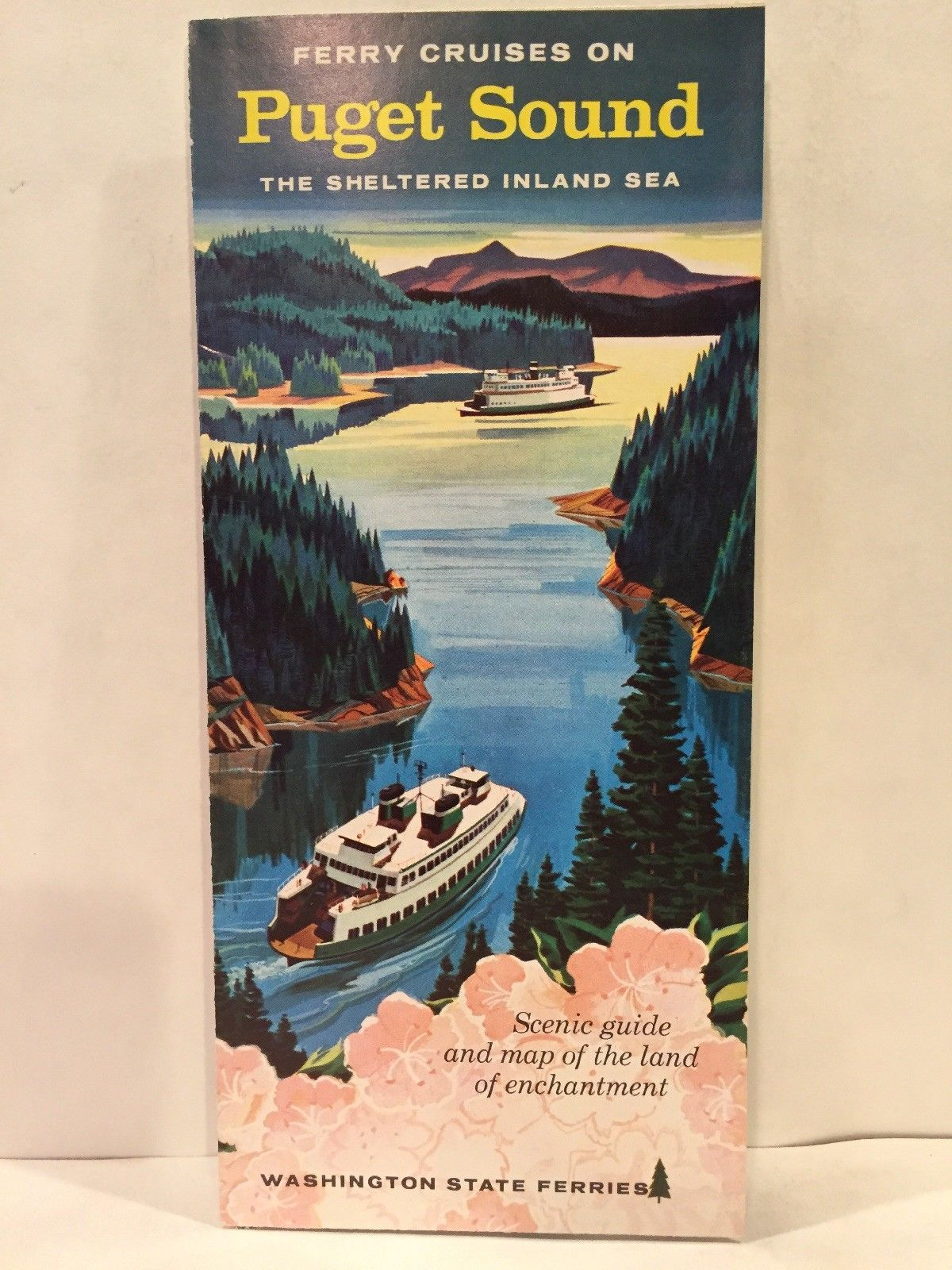 Picture of: 1959 Ferry Cruises On Puget Sound Washington State Ferries Travel Brochure Map Cyber Dutchman